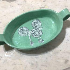 Anthropologie Ceramic Poodle Dish